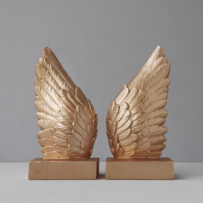White Moose Wing Bookends Gold - Global Free Style