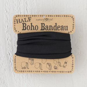 Natural Life Boho Bandeau Solid Black - Global Free Style