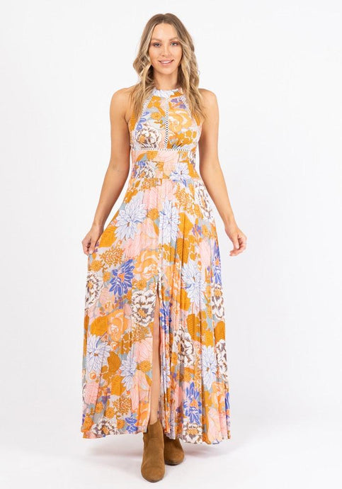 Ebby and I Sleeveless Pastel Romance Long Dress - Global Free Style