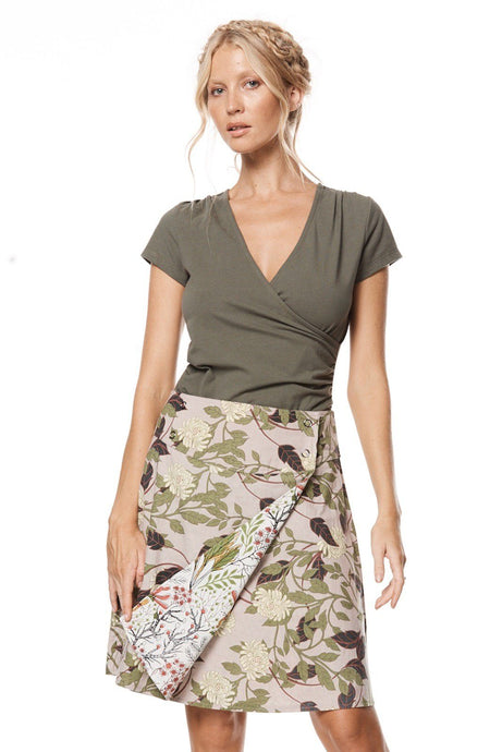 MahaShe Chameleon Reversible Skirt Magnolia and Freesia - Global Free Style