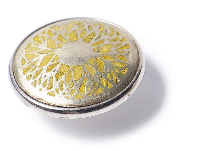 Noosa Amsterdam Sunflower Silver/ Yellow Chunk - Global Free Style