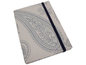 Lavida Notebook White & Blue Paisley - Global Free Style