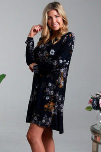 Isabella Ziba Winter Long Sleeve Tunic Dress Black - Global Free Style