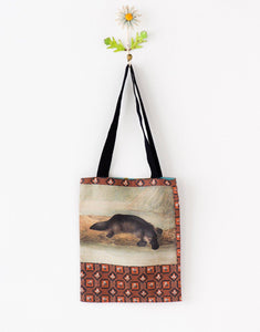 Lazybones Platypus tote bag small *organic cotton - Global Free Style