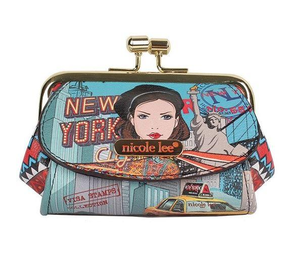 Nicole Lee Kiss Lock Coin Purse New York Drive - Global Free Style