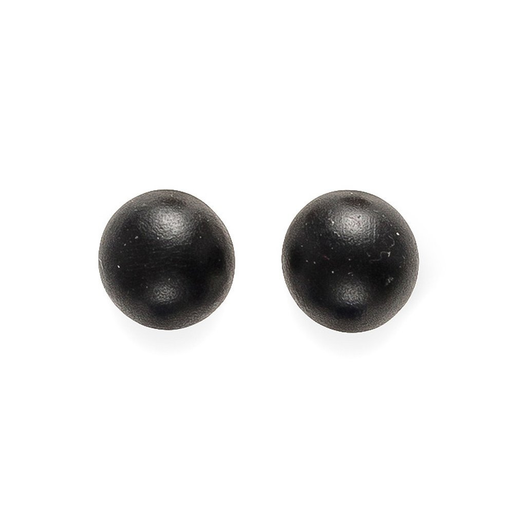 Rare Rabbit Earrings Round Ball Stud Black - Global Free Style