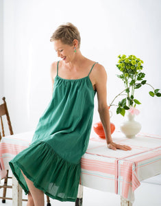 Lazybones Shelly Slip Dress Emerald - Global Free Style