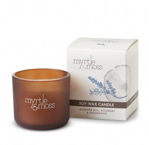 Myrtle & Moss Soy Wax Candle Mini Lavender Bud, Rosemary And Cedarwood - Global Free Style