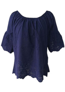 Boho Dover Top Navy - Global Free Style