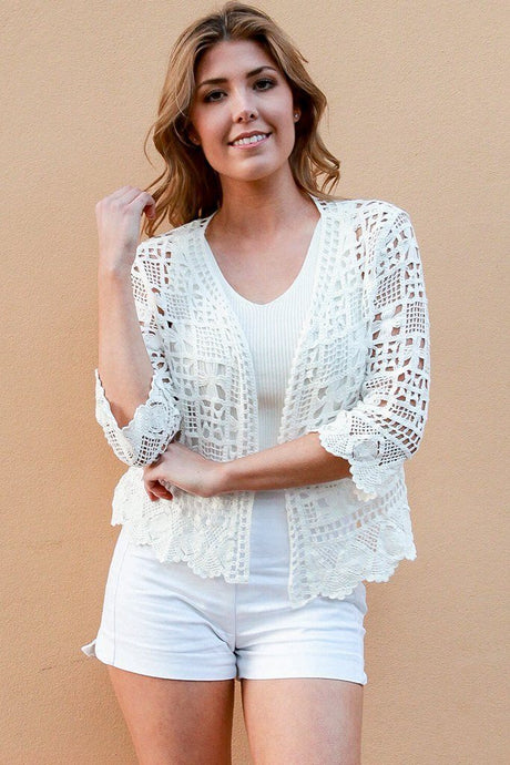 Dreamcatcher Cindy Look Bolero Cardigan White - Global Free Style