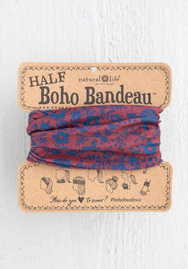 Natural Life Half Bandeau Red Indigo Folk - Global Free Style