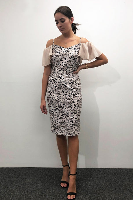 5pm Rosa Evening Dress Leopard - Global Free Style