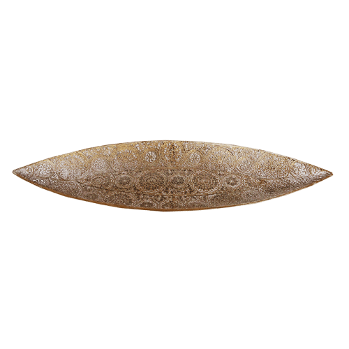 Urban Tray White Gold Discus Metal Lace Medium - Global Free Style