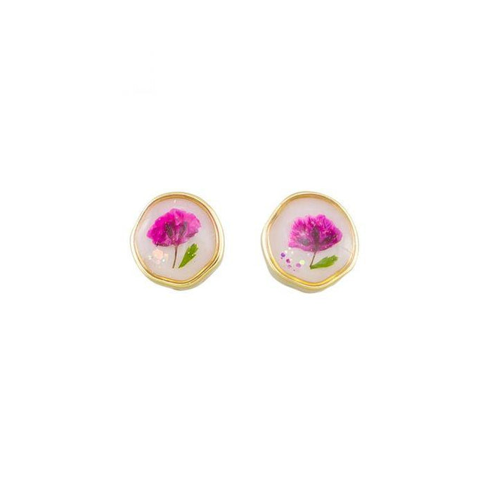 Tiger Tree Earring Stud My Garden Pink - Global Free Style