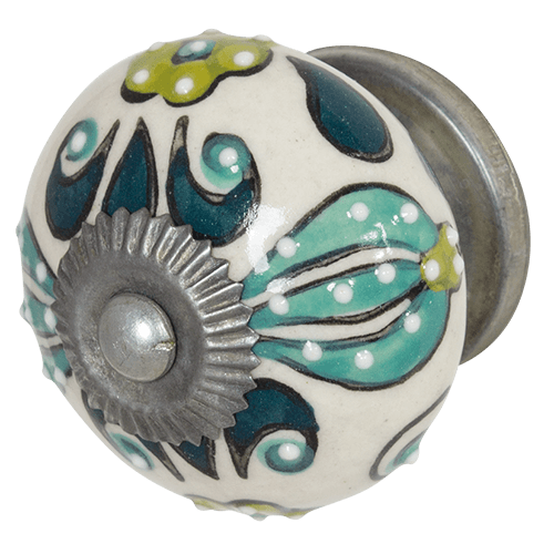 DWBH Hand Painted Ceramic Door Handle Jungle - Global Free Style