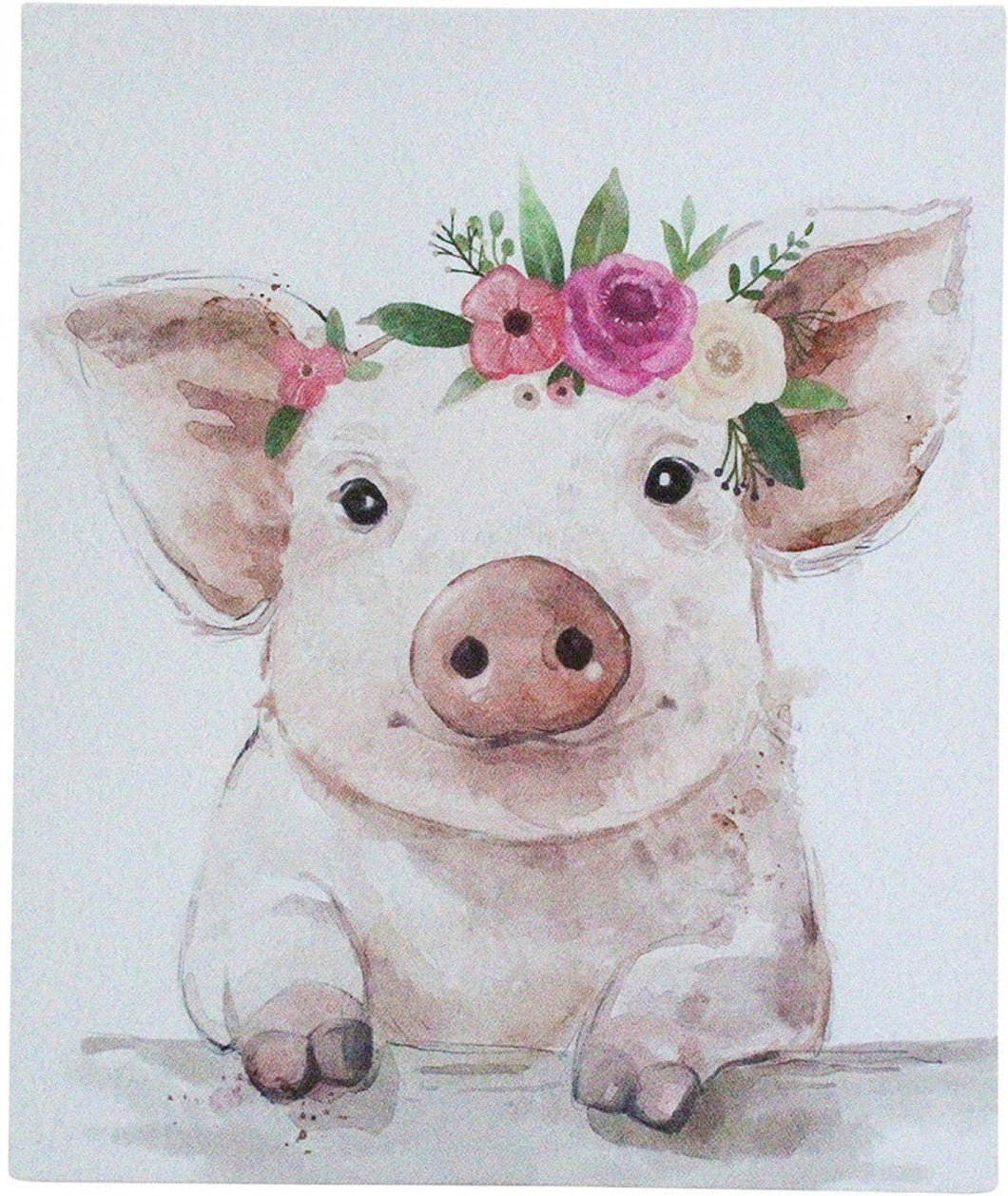 Lavida Wall Art Mini Pig Flowers - Global Free Style