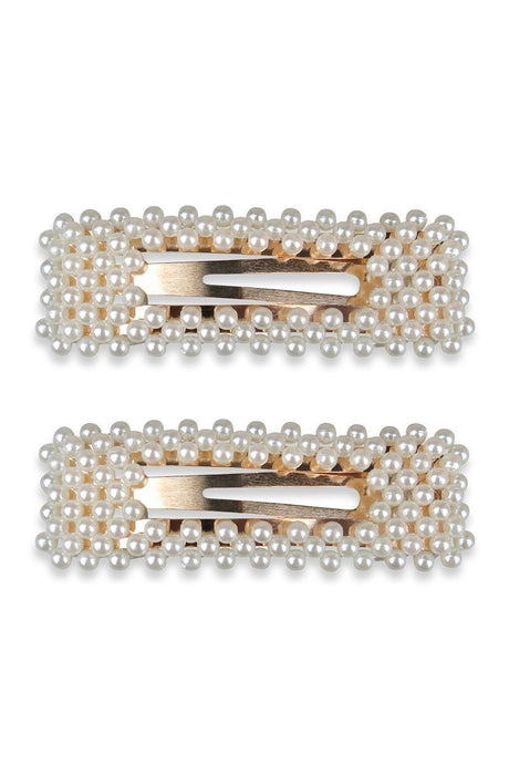 Morgan & Taylor Set of 2 Adrienne Hair Clip Pearl - Global Free Style