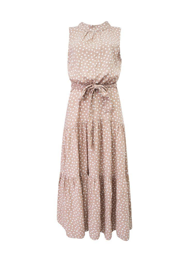 Sunny Girl Jacinta Sleeveless Long Dress Beige - Global Free Style