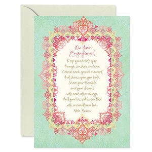 Intrinsic Engagement Greeting Card - Global Free Style