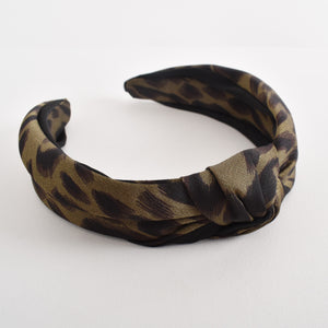 Adorne Rosie Abstract Leopard Knot Headband - Global Free Style