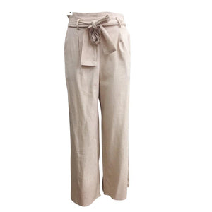 Sunny Girl Culotte Linen Pants Stone - Global Free Style