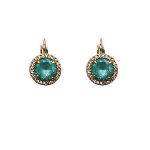 Fabienne Crystal Circle Drop Earrings Earrings Gold 9 Colours - Global Free Style