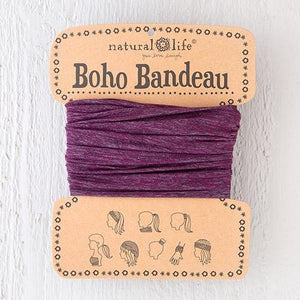 Natural Life Boho Bandeau Spandex Purple Grey - Global Free Style