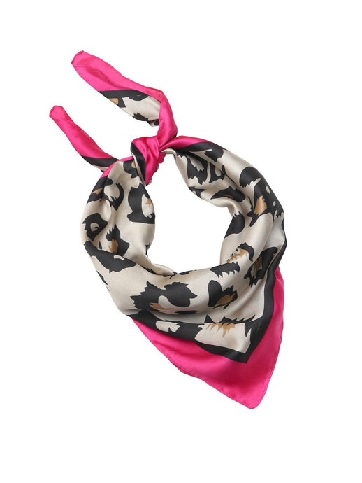 Tiger Tree Fuchsia Capri Leopard Scarf - Global Free Style