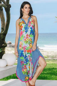 Lula Soul Carmen Long Dress Ocean - Global Free Style