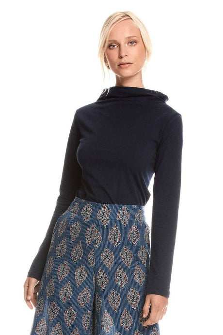 MahaShe Evie Top Long Sleeve Navy - Global Free Style