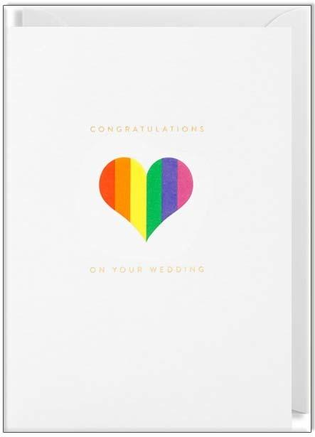 Waterlyn Card Congratulations on Your Wedding - Global Free Style