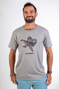 Skumi Mens T shirt Sloth Rock Grey - Global Free Style