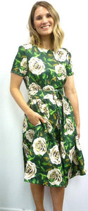 Timeless by Vannessa Tong London Rose Dress Green White - Global Free Style
