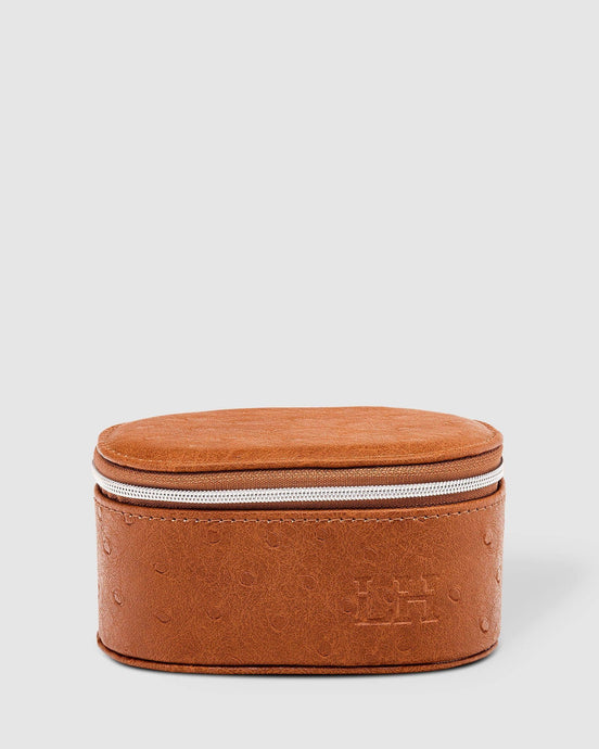 Louenhide Olive Jewellery Box Ostrich Nutmeg - Global Free Style