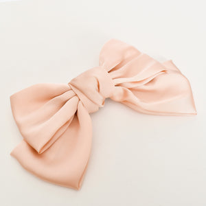 Adorne Oversized Bow Hair Clip Nude - Global Free Style