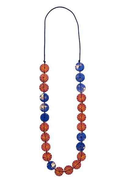Cinnamon Creations Buttons Lapis Necklace Blue - Global Free Style