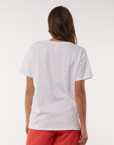 Elm Flossie Flamingo Tee Top White - Global Free Style