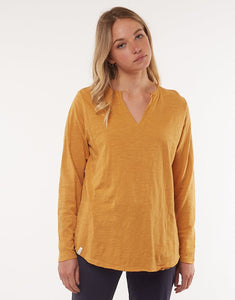 Elm Coles Bay Long Sleeve Henley Top- 5 Colours - Global Free Style