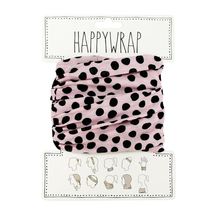 Annabel Trends Happy Wrap Pink and Black Spot - Global Free Style
