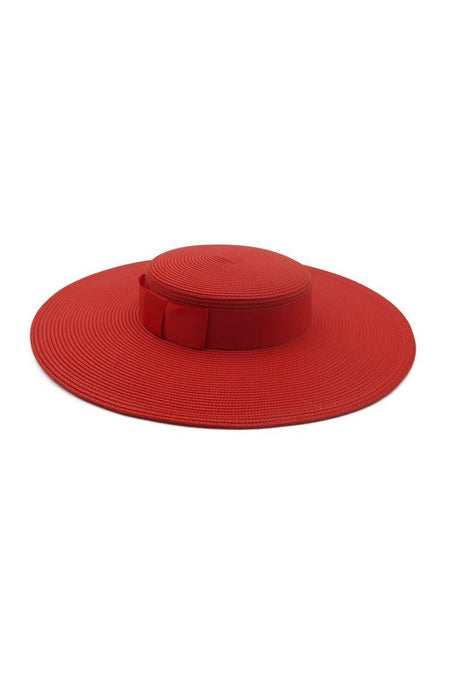 Morgan & Taylor Macy Boater Fascinator Hat - Red - Global Free Style