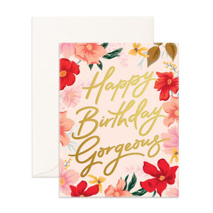 Fox & Fallow Greeting Card HAPPY BIRTHDAY GORGEOUS - Global Free Style