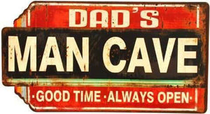 Lavida Tin Sign Dad's Man Cave - Global Free Style