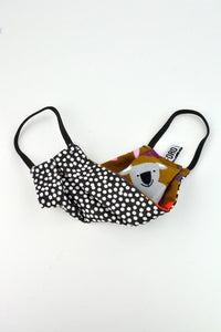 Ford Millinery Reversible Face Mask Brown Koala and Black Spot - Global Free Style