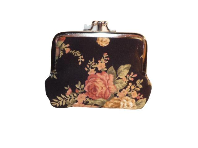 Daisys Collection Double Coin Purse - Rose Brown - Global Free Style