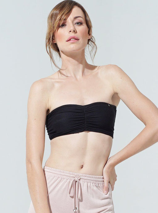 Buddha Wear Bandeau Top Black