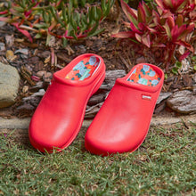 Annabel Trends Gummies Clog Red Pretty Peonies - Global Free Style