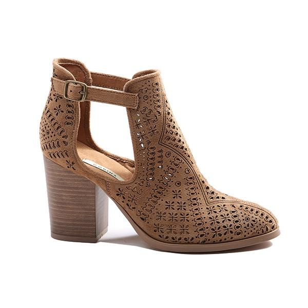 Ameise Shoe Heel Hazel Taupe Brown - Global Free Style
