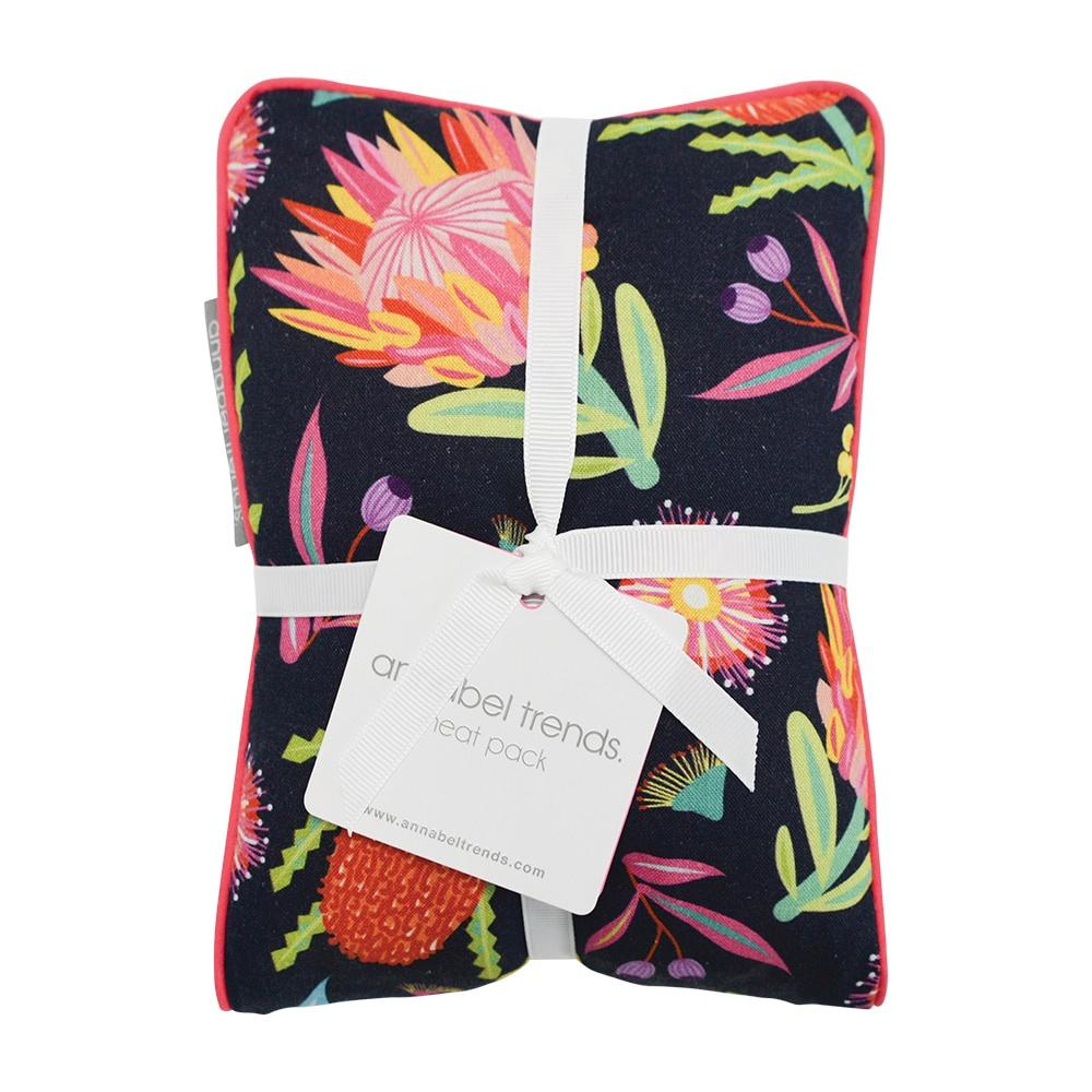 Annabel Trends Heat Pillow - Aussie Flora Navy - Global Free Style