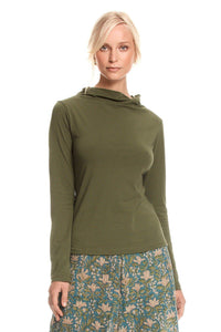 MahaShe Evie Top Long Sleeve Moss Green - Global Free Style