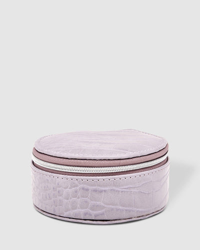Louenhide Sisco Croc Lilac Jewellery Box - Global Free Style